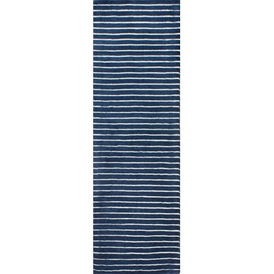 Worsham Hand-Woven Wool Blue Area Rug Rug Size: Runner 26 x 8