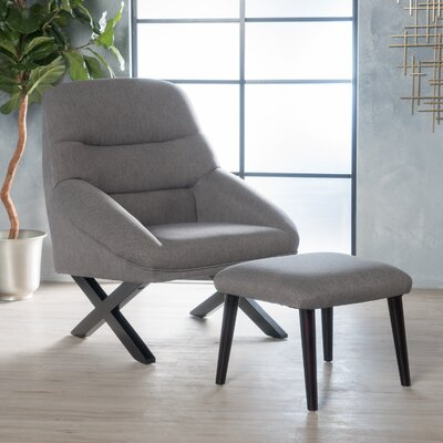 Davalos Armchair and Ottoman Upholstery: Dark Gray