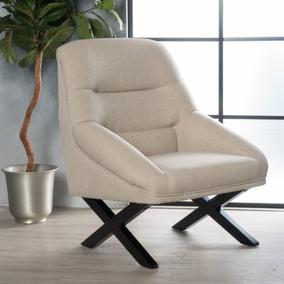 Davalos Armchair Upholstery: Wheat Cream