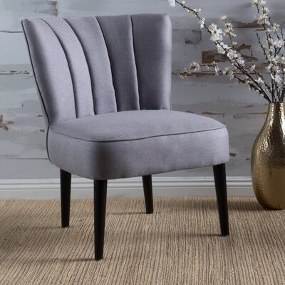Bugarin Side Chair Upholstery: Light Gray