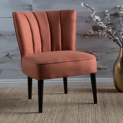Bugarin Side Chair Upholstery: Orange