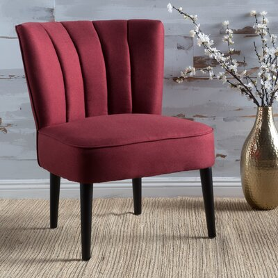 Bugarin Side Chair Upholstery: Red