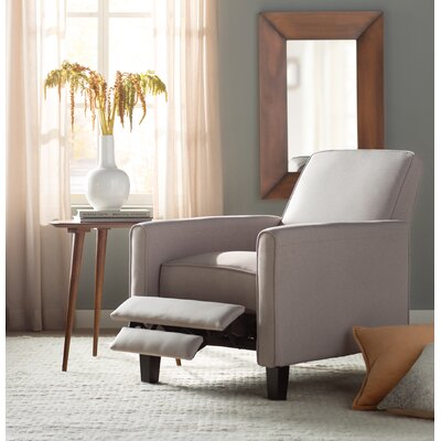 Cabrales Manual Recliner Upholstery: Wheat Beige