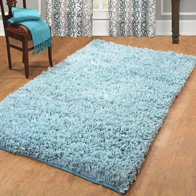 Calcote Hand-Woven Blue Area Rug