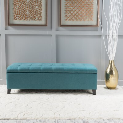 Morrisey Storage Ottoman Upholstery: Dark Teal