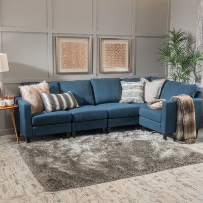 Buffum Sectional Upholstery: Dark Blue