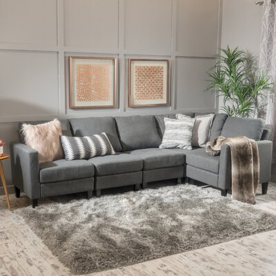 Buffum Sectional Upholstery: Dark Gray