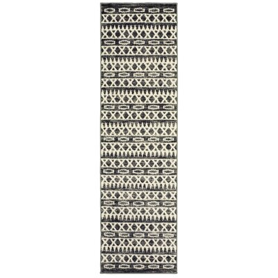 Echo Gray Area Rug Rug Size: Runner 21 x 75