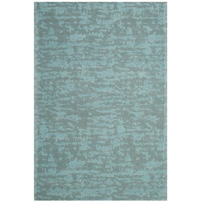 Holsworth Hand-Woven Blue Area Rug Rug Size: Rectangle 5 x 8
