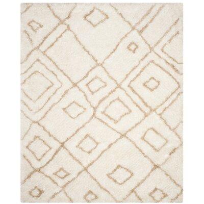 Briganti Hand-Tufted Ivory/Beige Area Rug Rug Size: Rectangle 8 x 10