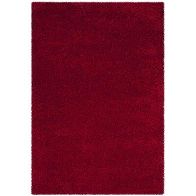 Brickner Red Area Rug Rug Size: Rectangle 53 x 76