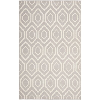 Cassiopeia Hand-Woven Gray/Ivory Area Rug Rug Size: Rectangle 5 x 8