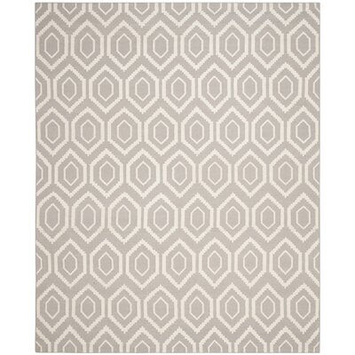 Cassiopeia Hand-Woven Gray/Ivory Area Rug Rug Size: Rectangle 8 x 10