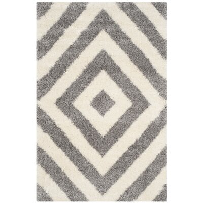 Slawson Power Loomed Beige/Gray Area Rug Rug Size: Rectangle 4 x 6