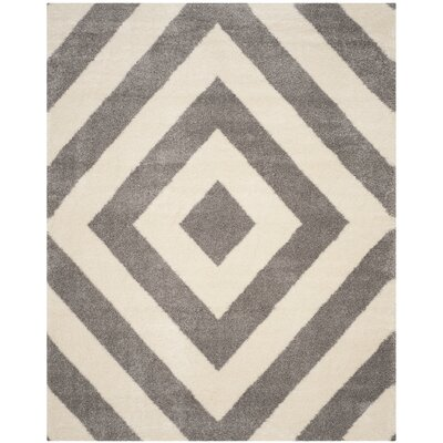 Slawson Power Loomed Beige/Gray Area Rug Rug Size: Rectangle 8 x 10
