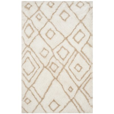 Briganti Hand-Tufted Ivory/Beige Area Rug Rug Size: Rectangle 5 x 8