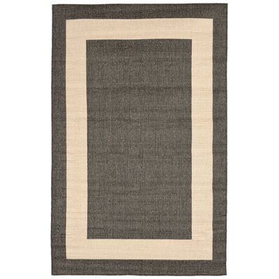Aaliyah Border Power Loom Gray Indoor/Outdoor Area Rug Rug Size: Rectangle 710 x 910