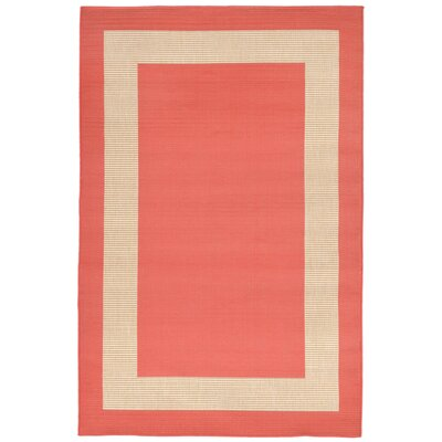 Aaliyah Border Power Loom Orange Indoor/Outdoor Area Rug Rug Size: Rectangle 33 x 411