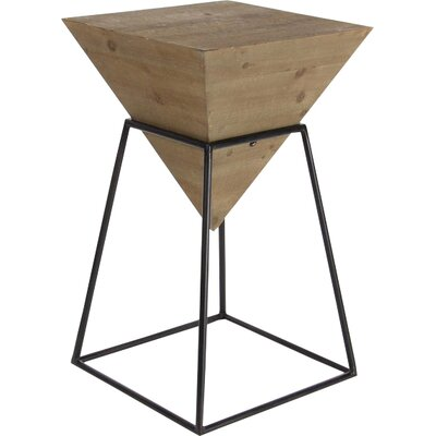Bullins Square Shaped End Table Color: Brown