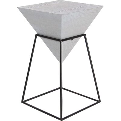 Bullins Square Shaped End Table Color: Gray