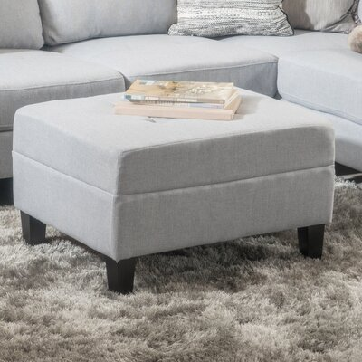Rogelio Ottoman Upholstery: Light Gray