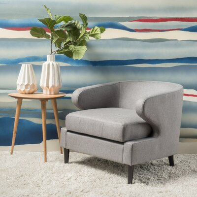 Daum Barrel Chair Upholstery: Gray