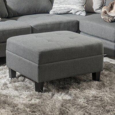 Rogelio Ottoman Upholstery: Dark Gray