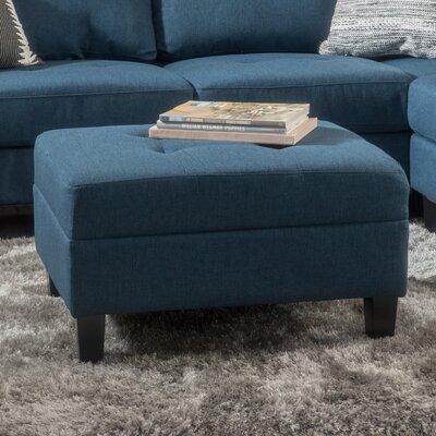 Rogelio Ottoman Upholstery: Dark Blue