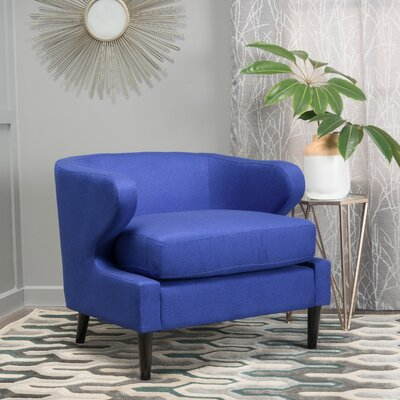 Daum Barrel Chair Upholstery: Navy Blue