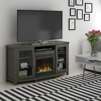 Byas 65 TV Stand with Fireplace Color: Tifton Oak