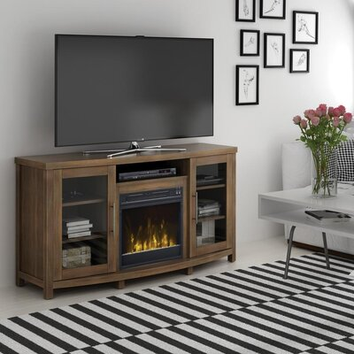 Byas 65 TV Stand with Fireplace Color: Stanton Birch