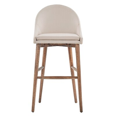 Prism 29 Bar Stool Finish: Walnut, Upholstery: Beige
