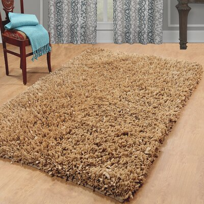 Castilleja Hand-Woven Taupe Area Rug Rug Size: 5 x 8