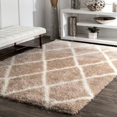 Bronson Trellis Beige Area Rug Rug Size: Rectangle 92 x 12