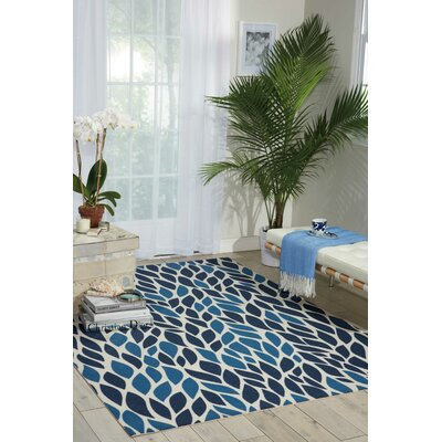 Cadet Blue Indoor/Outdoor Area Rug Rug Size: Rectangle 10 x 13
