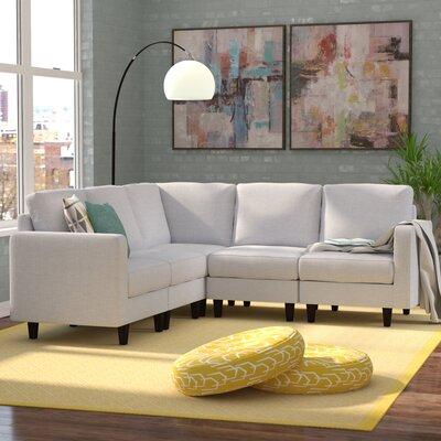 Buffum Sectional Upholstery: Light Gray