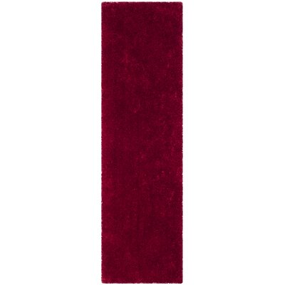 Shortt Shag Hand Tufted Red Area Rug Rug Size: Runner 23 x 6