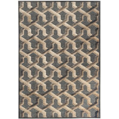 Gabbro Soft Anthracite Area Rug Rug Size: Rectangle 53 x 76