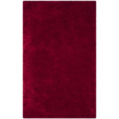 Shortt Shag Hand Tufted Red Area Rug Rug Size: Rectangle 6 X 9