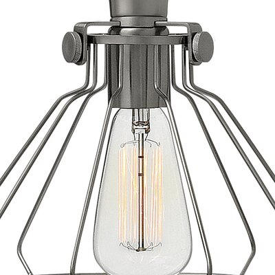 Bunnell Contemporary 1-Light Metal Semi Flush Mount Finish: Antique Nickel
