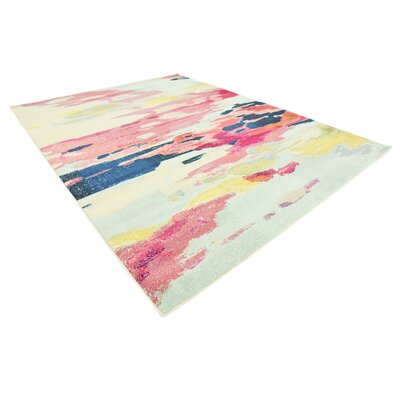 Brister Pink Area Rug Rug Size: Rectangle 7 x 10