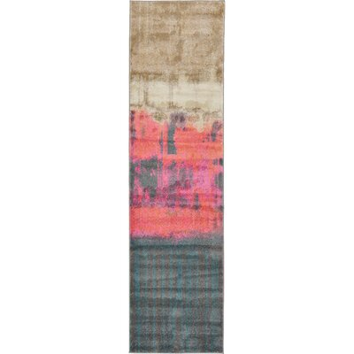 Coakley Traditional Pink Area Rug Rug Size: Runner 27 x 10