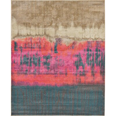 Coakley Traditional Pink Area Rug Rug Size: Rectangle 7 x 10