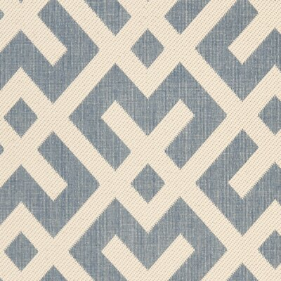 Quinlan Blue Indoor/Outdoor Area Rug Rug Size: Rectangle 53 x 77
