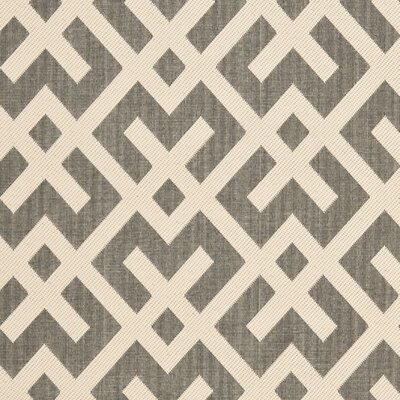 Quinlan Gray/Bone Indoor/Outdoor Area Rug Rug Size: Rectangle 53 x 77