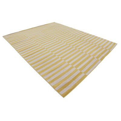Braxton Yellow Area Rug Rug Size: Rectangle 9 x 12