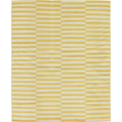 Braxton Yellow Area Rug Rug Size: Rectangle 7 x 10