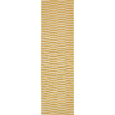 Braxton Yellow Area Rug Rug Size: Runner 3 x 10