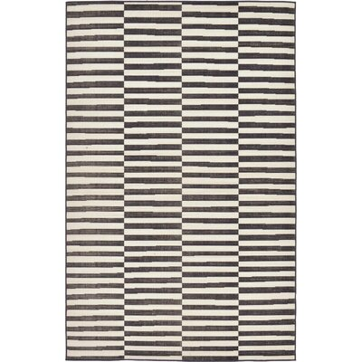 Braxton Black Area Rug Rug Size: Rectangle 9 x 12