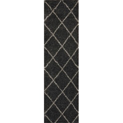 Psyche Charcoal Area Rug Rug Size: Runner 2' x 6'